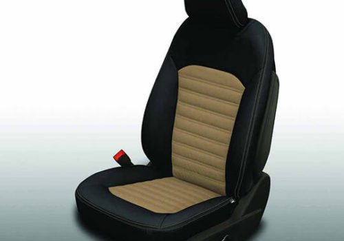 Ford Fusion Black and Brown Leather Seat