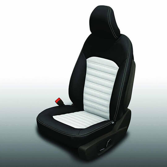 Ford Fusion Black and White Leather Seat