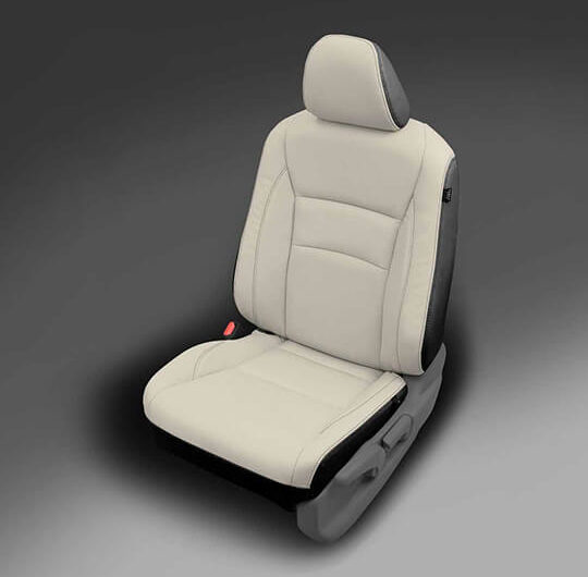 Honda Pilot Light and Dark Grey Leather Seat
