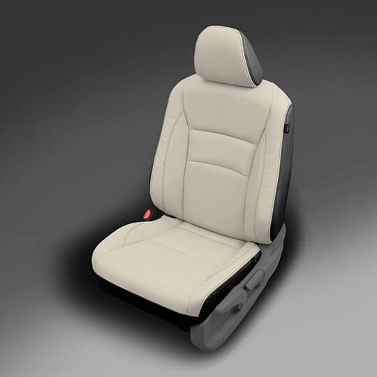 Honda Pilot Light and Dark Grey Leather Seat