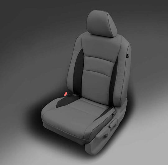 Honda Pilot Grey Leather Seat with Black Accents