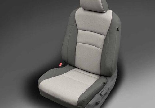 Honda Pilot Grey Two-Tone Leather Seat