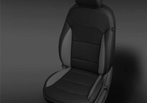 Hyundai Elantra Black and Grey Leather Seat