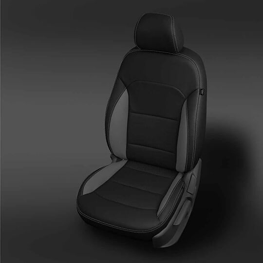 Hyundai Elantra Black and Grey Leather Seat