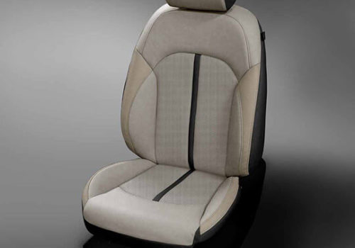 Kia Optima Light Grey and Black Leather Seat