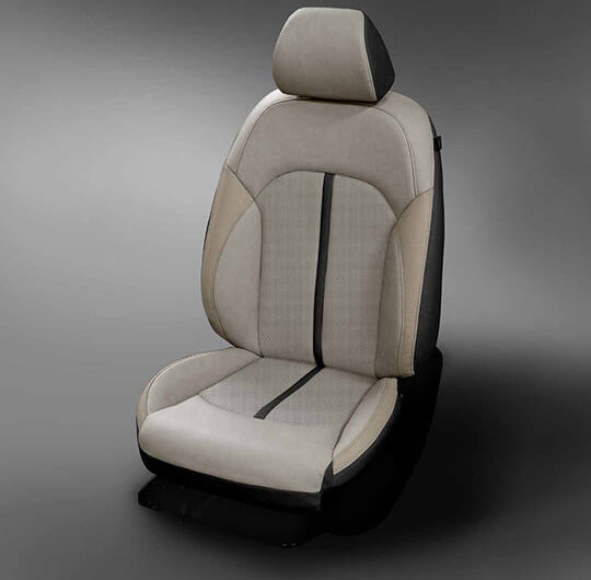 Kia Optima Light Grey and Black Leather Seat