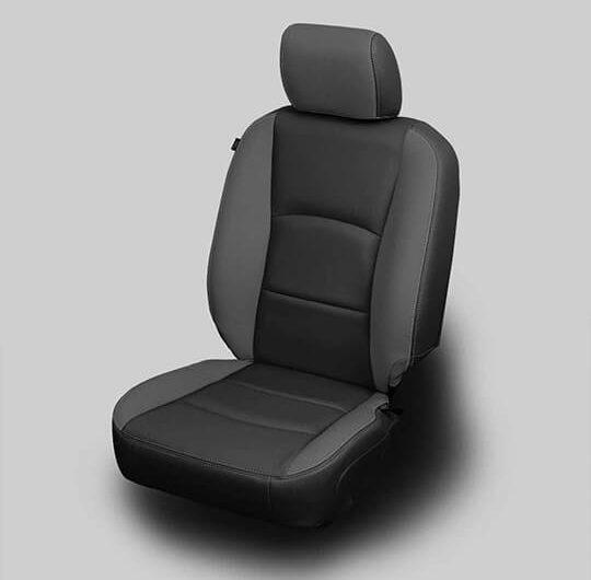 Ram 2500 Black Leather Seat