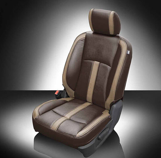Ram 2500 Brown and Tan Leather Seat