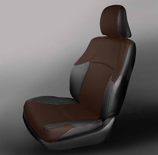 Toyota 4Runner Brown and Black Leather Seat