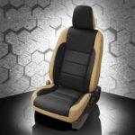 Toyota Corolla Black and Tan Leather Seat