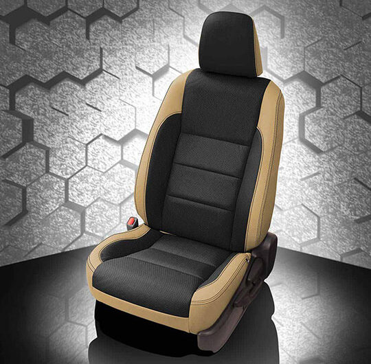 Toyota Corolla Black and Tan Leather Seat