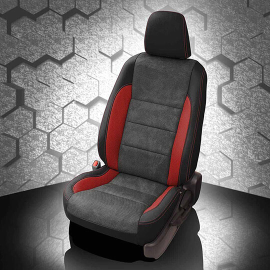 Toyota Corolla Black and Red Leather Seat