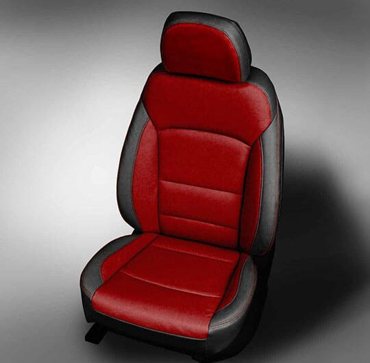 Chevy Cruze red leather seats