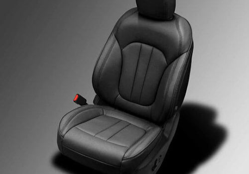 Chrysler 200 black leather seats