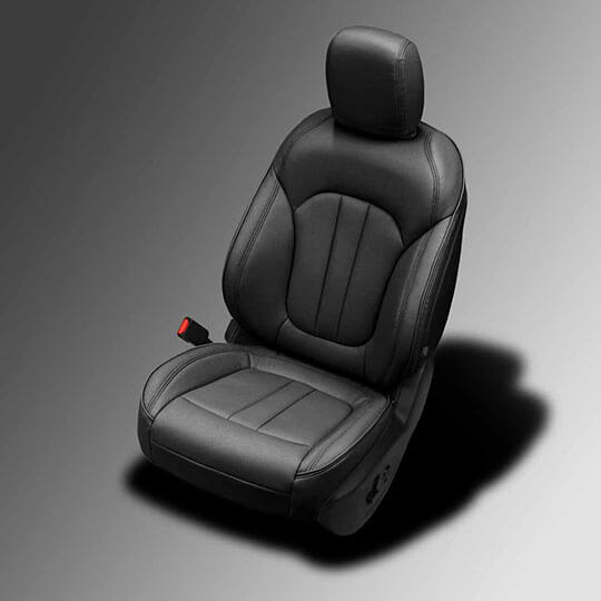 Chrysler 200 black leather seats