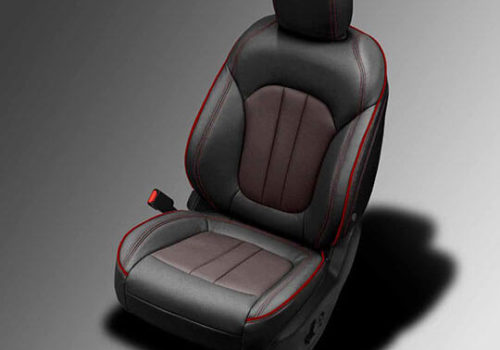 Chrysler 200 black and brown leather seats
