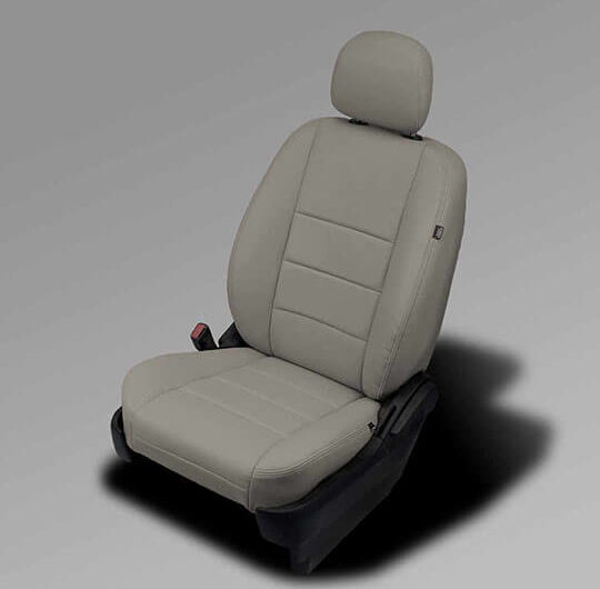 Dodge Caravan gray leather seats