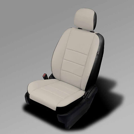 Dodge Caravan beige leather seats