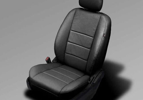 Dodge Caravan black leather seats