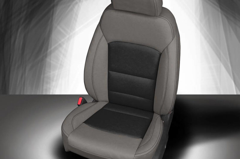 Chevy Malibu Grey And Black Leather Seat