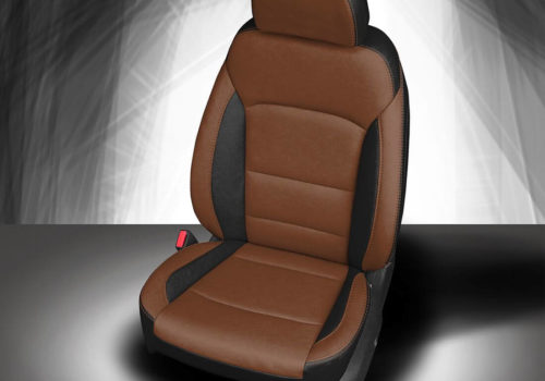 Chevy Malibu Brown And Black Leather Seat