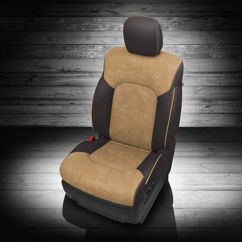 Nissan Armada Tan And Black Leather Seat