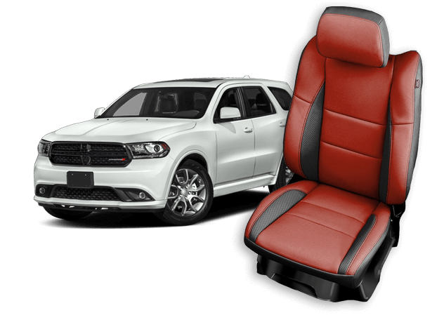 White Dodge Durango and Leather Seats