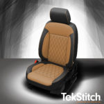 GMC Acadia Brown and Black Leather Seats