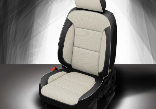 GMC Acadia Black and White Leather Seats