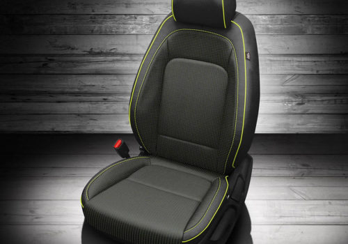 Hyundai Kona Black Leather Seats With Green Trim
