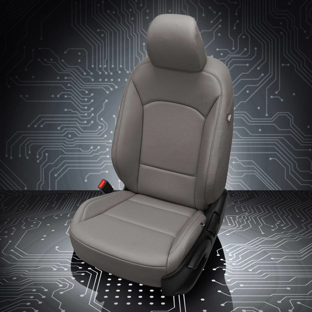 Kia Soul Gray Leather Seats