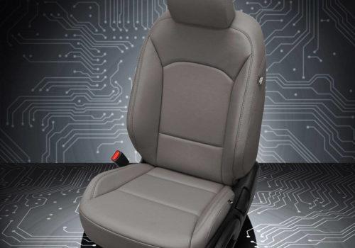 Kia Soul Gray Leather Seats