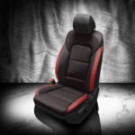 Kia Sportage Red and Black Leather Seat Covers