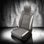 Kia Sportage Gray and White Leather Seat Covers