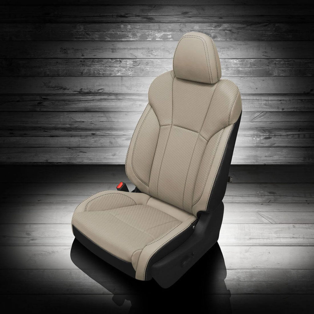 White-Subaru Ascent Leather Seat Covers