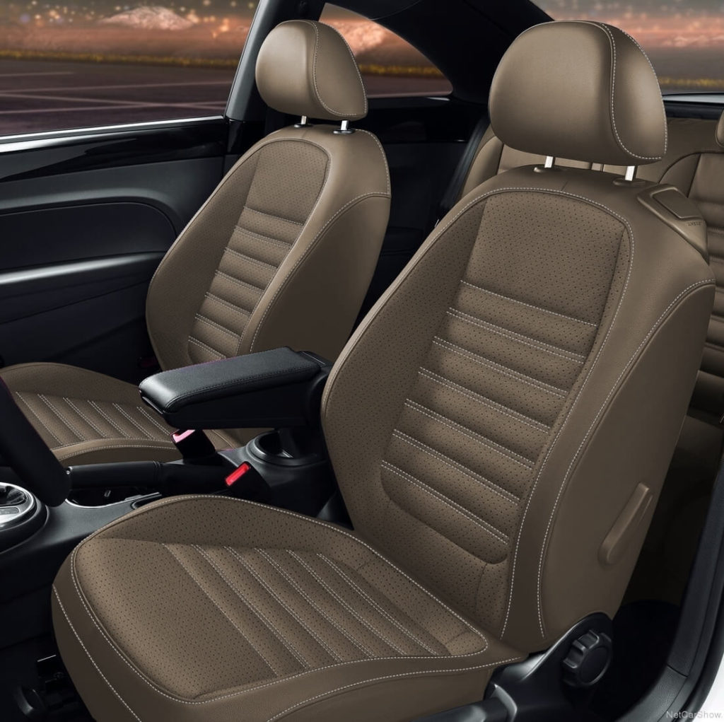 VW Beetle Brown Leather Seat Covers