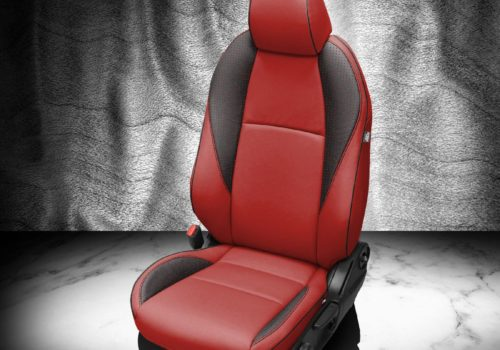 Mazda 3 Red and Black Leather Seats