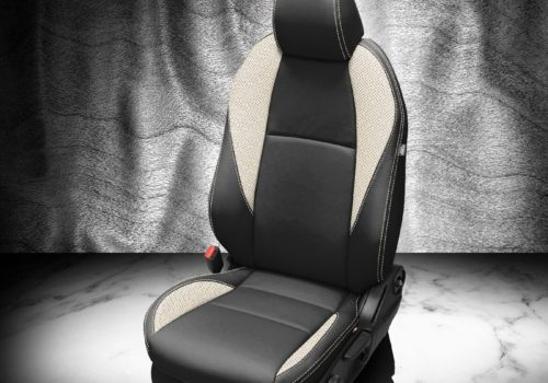 Mazda 3 Black and White Leather Seats