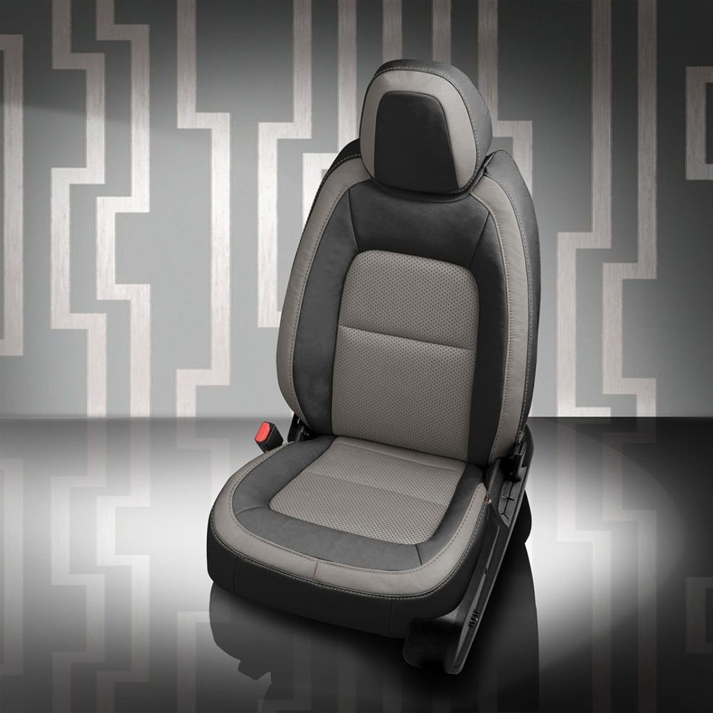 GMC Canyon Black and Gray Leather Seats