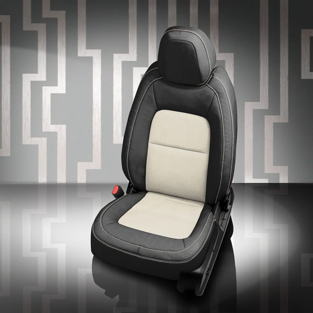 GMC Canyon Black and White Leather Seats