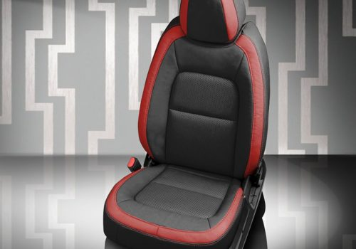 GMC Canyon Black and Red Leather Seats