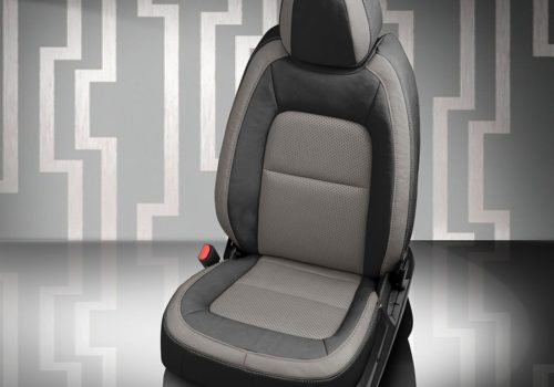 Chevy Colorado Black and Gray Leather Seats