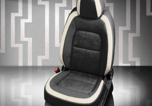 Chevy Colorado Black and White Leather Seats
