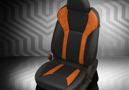 Subaru Crosstrek Orange and Black Leather Seats