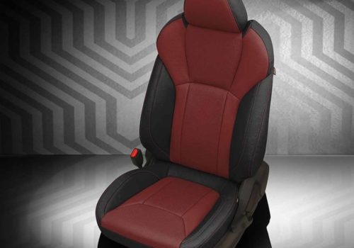 Subaru Crosstrek Red and Black Leather Seats