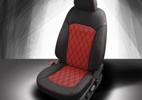 Ford Edge Black and Red Leather Seats