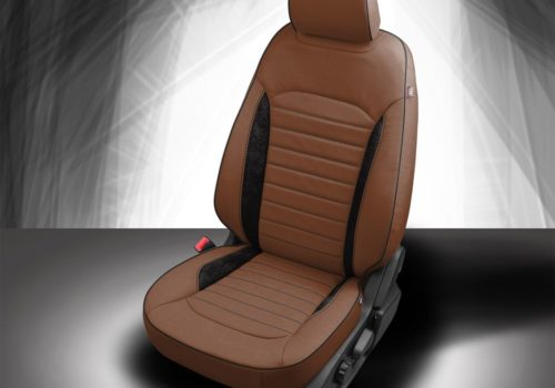 Ford Edge Brown and Black Leather Seats