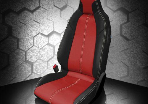 Mazda Miata Red and Black Leather Seats
