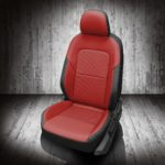 VW Jetta Red and Black Leather Seats
