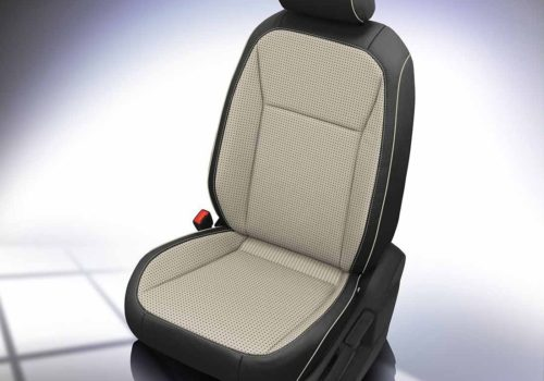 VW Tiguan Black and White Leather Seats